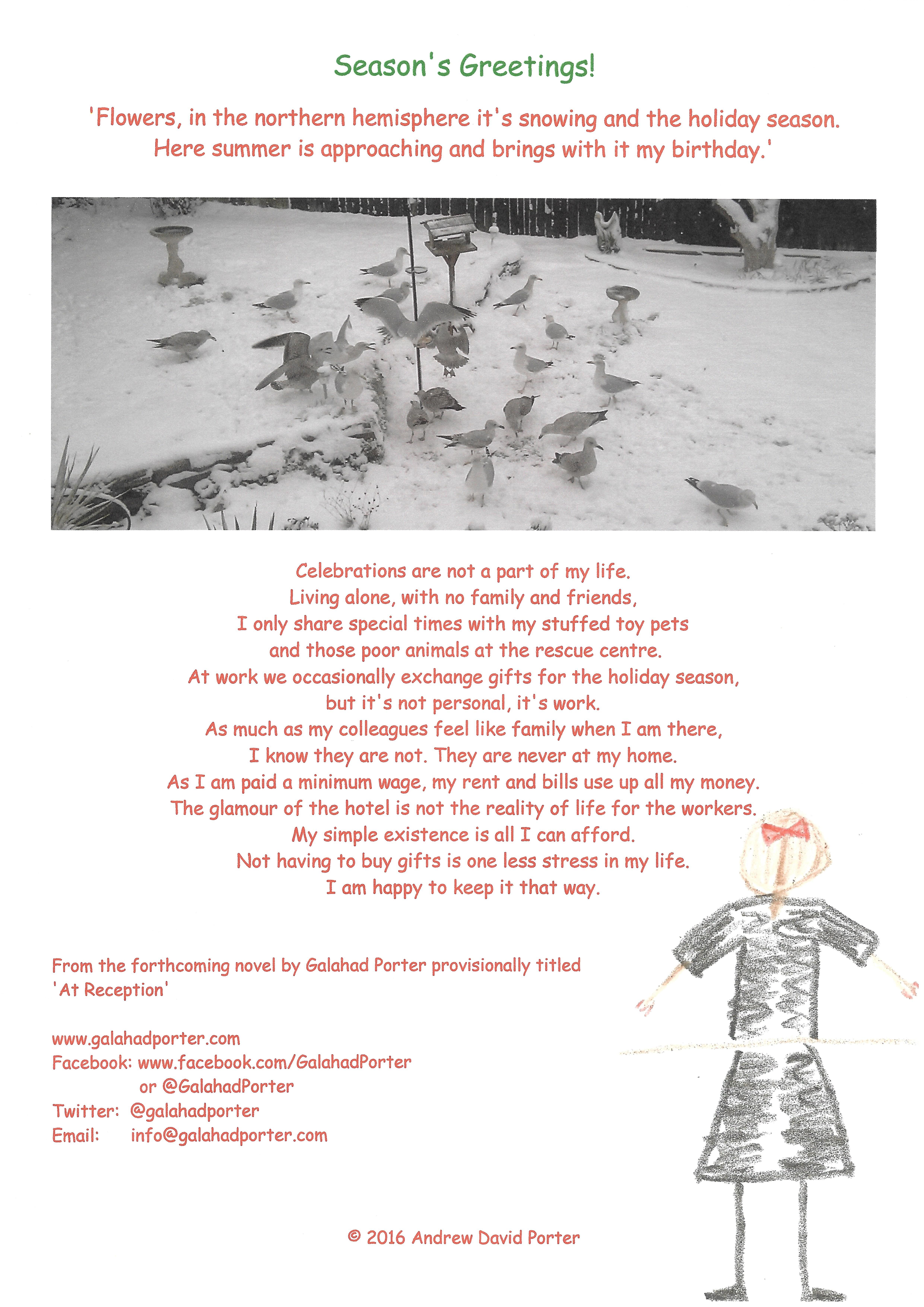 Galahad porter writer seasonal greetingsg kristyandbryce Images